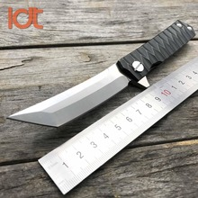 LDT Twosun Tanto Folding Knife D2 Blade Steel Handle Tactical Knives Camping Survival Hunting Pocket Flipper Knife EDC Tools