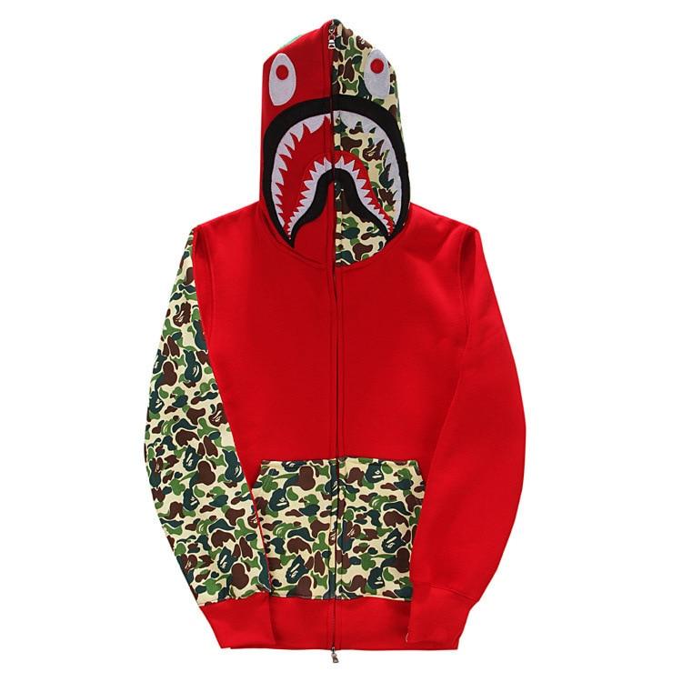 Men/'s Coat A Bathing Ape Hoodie BAPE Sweater Shark Jacket Pullover Sweatshirt **