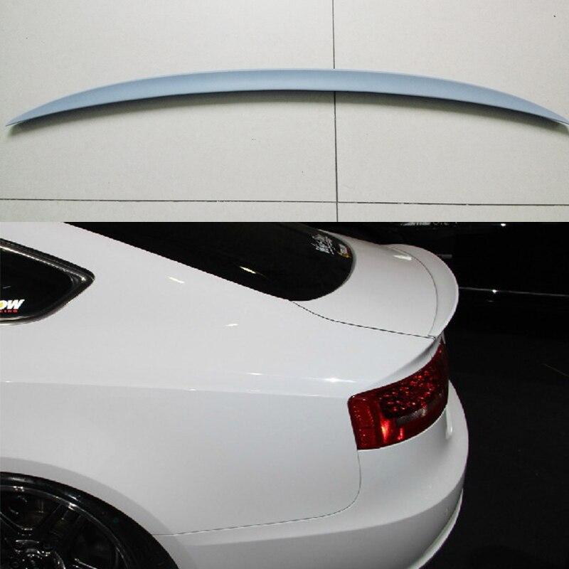 Unpainted Fiberglass Rear Trunk Spoiler Wing For Audi A5