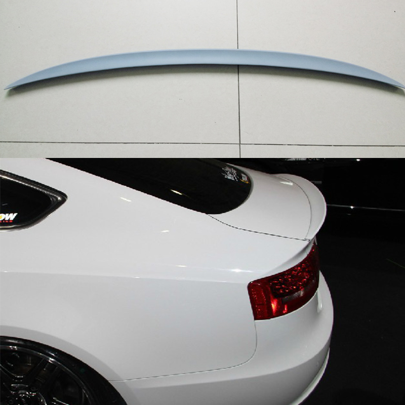Unpainted Fiberglass rear Trunk Spoiler Wing For <font><b>Audi</b></font> <font><b>A5</b></font> <font><b>Sportback</b></font> 4Door 2009-2015 image