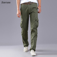 Spring Autumn Men Pants Casual Big Pockets Mens Cargo Pants Baggy Pants Trousers For Men Army