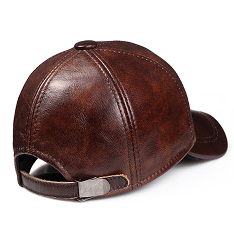 585a16b2e74 Aorice Fashion Simple Genuine Leather Baseball Cap Hat Men Winter Warm Brand  New Cow Skin Women Newsboy Caps Sport Hats HL171-F