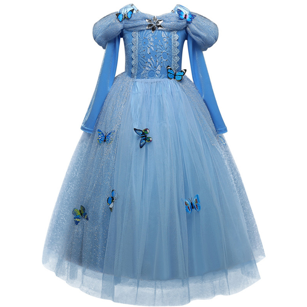 HTB10kM3Xbr1gK0jSZFDq6z9yVXaW Girls Dress Christmas Anna Elsa Cosplay Costume Dresses Girl Princess Elsa Dress for Birthday Party Children Kids Clothing