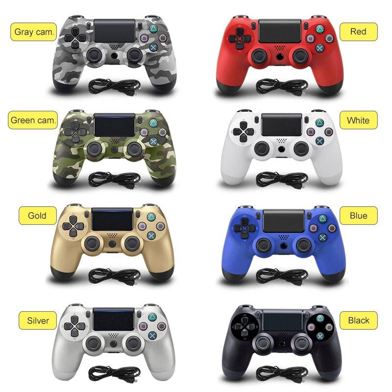 100% NOUVEAU Pour PS4 Filaire Gamepad Contrôleur Pour Sony Playstation 4 PS4 Contrôleur Pour Dualshock 4 Joystick PC USB Gamepads joypad