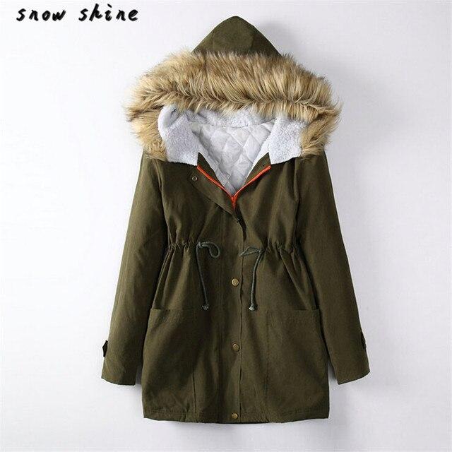 Snowshine #3001 Женская Куртка С Капюшоном Зима Куртка Пальто Топ Хлопок Дамы Пальто И Пиджаки бесплатная доставка