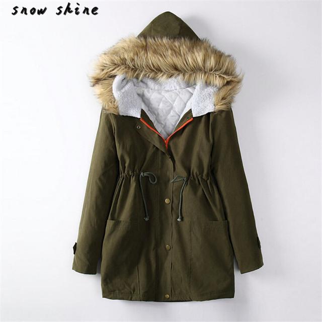 Snowshine #3001 Das Mulheres Jaqueta de Inverno Com Capuz Parka Coats Top Algodão Revestimento Das Senhoras Outwear frete grátis