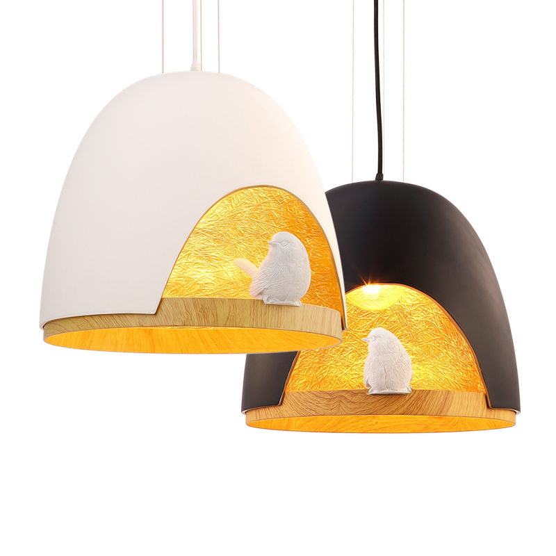Nordic bird resin pendant lights bedroom balcony creative personality Cafe modern minimalist bar E27 droplight Light Fixture