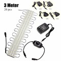 300cm Warm White 20pcs 720LM 60 LED Module Light Waterproof For Cosmetic Makeup Vanity Mirror Light With Power Adapter 5050