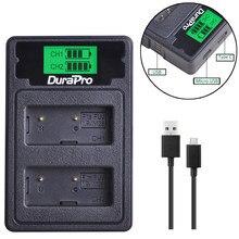 DuraPro – double chargeur USB pour écran LCD, pour fujifilm AX-1 AX-2 HS30ESR, NP W126 NPW126