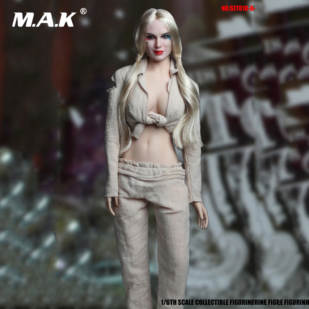 1/6 Suicide Squad SET018-B Female Joker Harley Quinn Head Sculpt and Prison Clothes Set For 12 Action Figures Bodies in Stock рюкзак городской rip curl 100