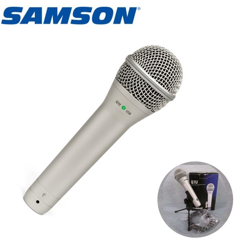 100% Original Samson Q1u Dynamic Hypercardioid Handheld Usb Microphone With Cakewalk Vocal Instrument Mic For Stage Performance100% Original Samson Q1u Dynamic Hypercardioid Handheld Usb Microphone With Cakewalk Vocal Instrument Mic For Stage Performance