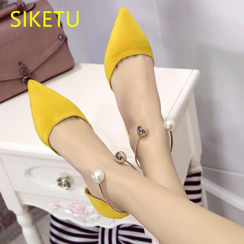 SIKETU 2017 Free shipping Spring and autumn Women shoes sex High heels shoes Wedding shoes Pearl buckle pumps OL g125 sandals siketu 2017 free shipping spring and autumn women shoes fashion high heels shoes wedding shoes sex was thin pumps g230