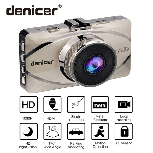 Denicer Car DVR Novatek 96655 Camera Full HD 1080P Auto Vehicle Video Recorder Registrar 170 Degree Wide-angle Dash Camera