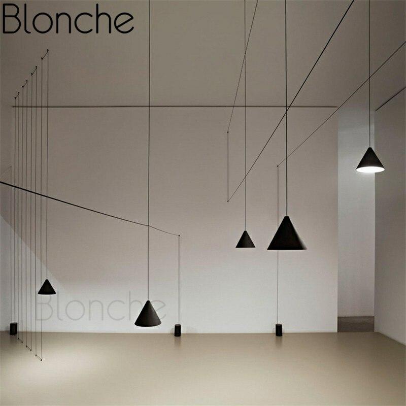 Ligne moderne pendentif lumière Creatvie bricolage suspension pour salle à manger Restaurant salon décor à la maison éclairage E27 Loft luminaires
