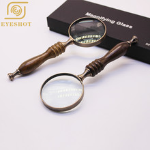 Hotsale Handheld 5X Magnifying Glass Reading Map Newspaper Magnifying Glass Jewelry Loupe Promotion Gifts