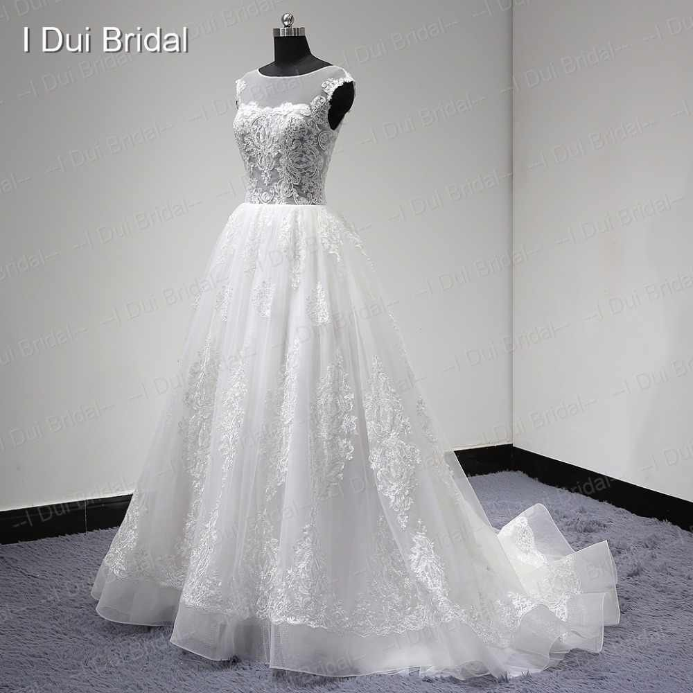 2017 New Real Wedding Dress See Through Corset Lace Skirt Unique Design Factory High Quality