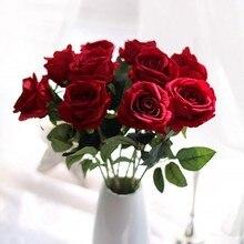 Artificial silk 1 piece Rose Bouquet decoration Flower Arrange Table Wedding Flowers Decor Party home wedding decorative flowers