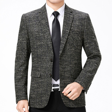 WAEOLSA Men Slim Fit Blazers Navy Blue Gray Suit Jackets Man Business Casual Blazer Elegant Jacket Homber Outfits