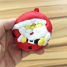 1pcs 7cm Kawaii Lovely Santa Claus Christmas Mochi Squishy doll PU rubber toy(China)