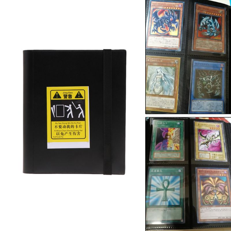 4-Pocket Leather Cards Hobby Collection Blank Binder Page Protector For Standard Size Cards
