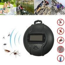 Aleekit Outdoor Portable Electronic Mosquito Repeller with Hook Pest Repeller Solar/USB Ultrasonic Mosquito Insect Killer