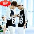 2014 exo wolf88 белый черно-белый крис 7 реглан рукав футболки мужчины и женщины тонкие толстовки