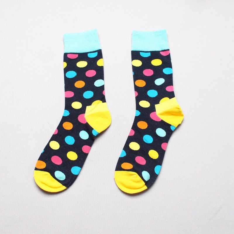 7106f7741b5d3 ... Fashion Socks Men Cotton Crew Polka Dot Print Skate Dress Brand Happy  Harajuku Novelty Calcetine Sox ...