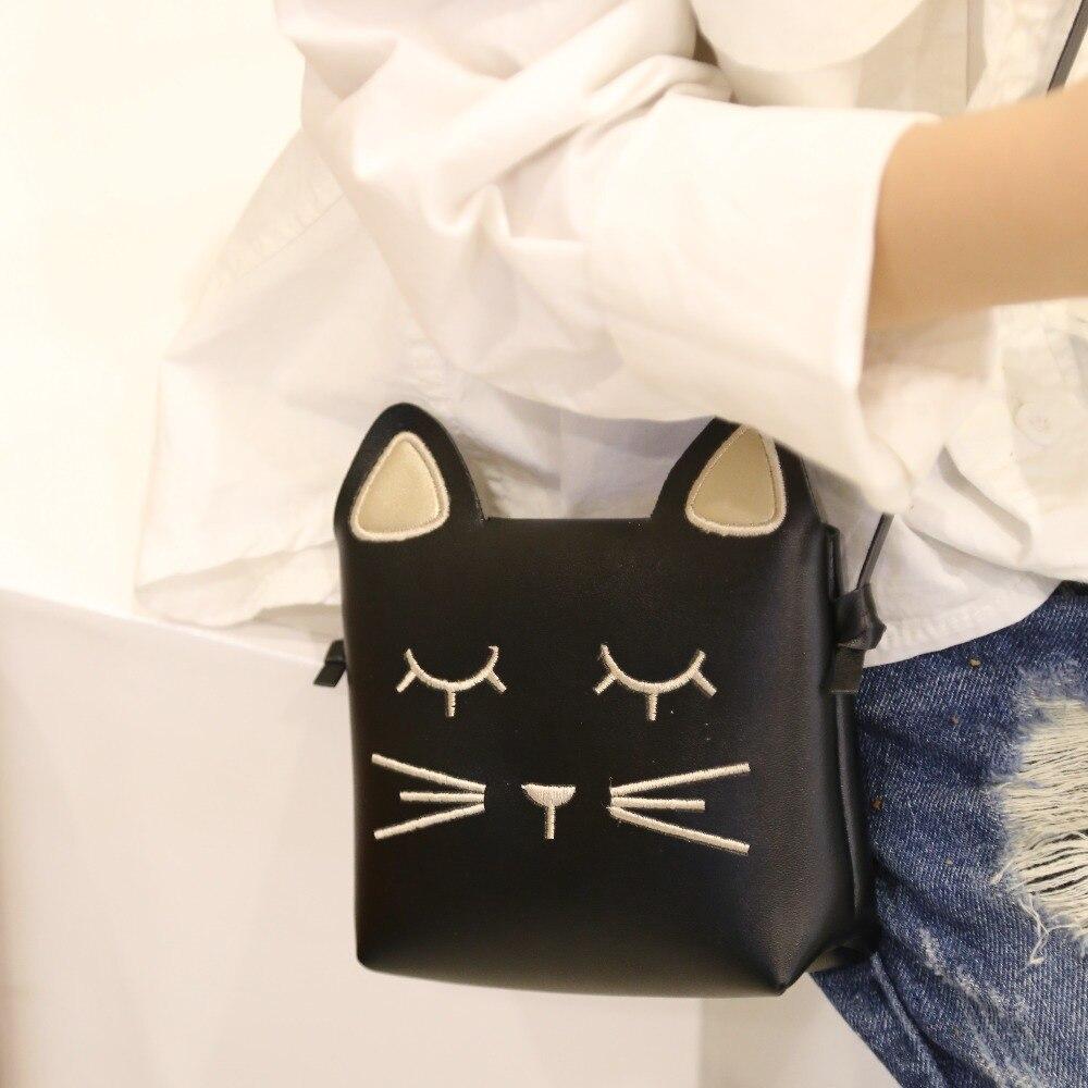 Monsisy Christmas Children Cat font b Bag b font Girl Coin Purse and Handbag Cartoon PU