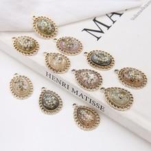 4 pcs retro style alloy embedded shell drop pearl earrings oval pendant earrings for women korean diy jewelry accessories цена в Москве и Питере