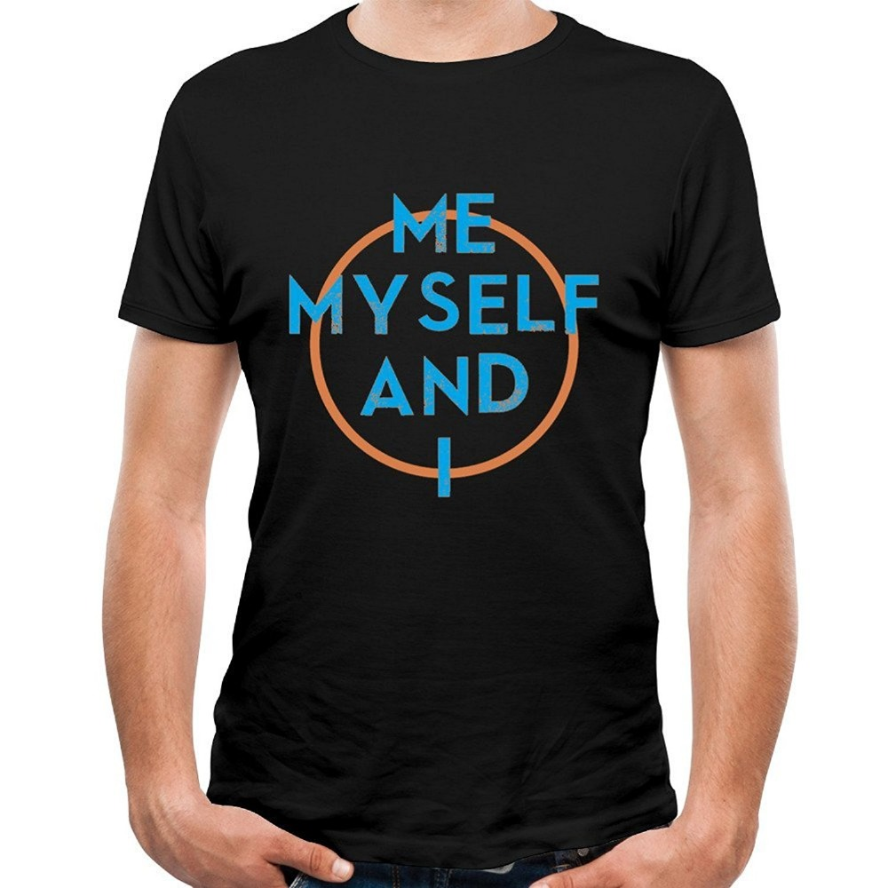 Design your own t shirt mens - Black Friday 2017 New Design Your Own T Shirt Casual Men Crew Neck Short Sleeve Me Myself And I When It S Dark Out Tee Shirts Free Shipping