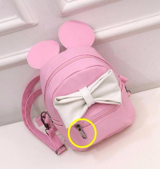 944dd2f1c350 Hot 2017 PU Leather Women Korean Style Mouse Ears Bow Shoulder Bag College  Girls School Bags Mini Travel backpacks Mochila Li489USD 21.65 piece