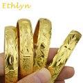 Ethlyn 12 ММ золото palted широкий Эфиопии Дубайская золото ювелирные изделия для Южноафриканских/Судан/Камерун/Израиль/гана/Ирак женщины ювелирные изделия