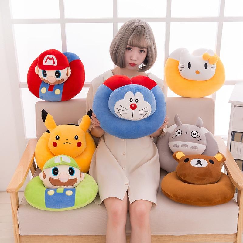 Cute Cartoon U Shape Pillows Comfort Super Doraemon Totoro Office Nap Headrest Nursing Travel Neck Cushion Pillows
