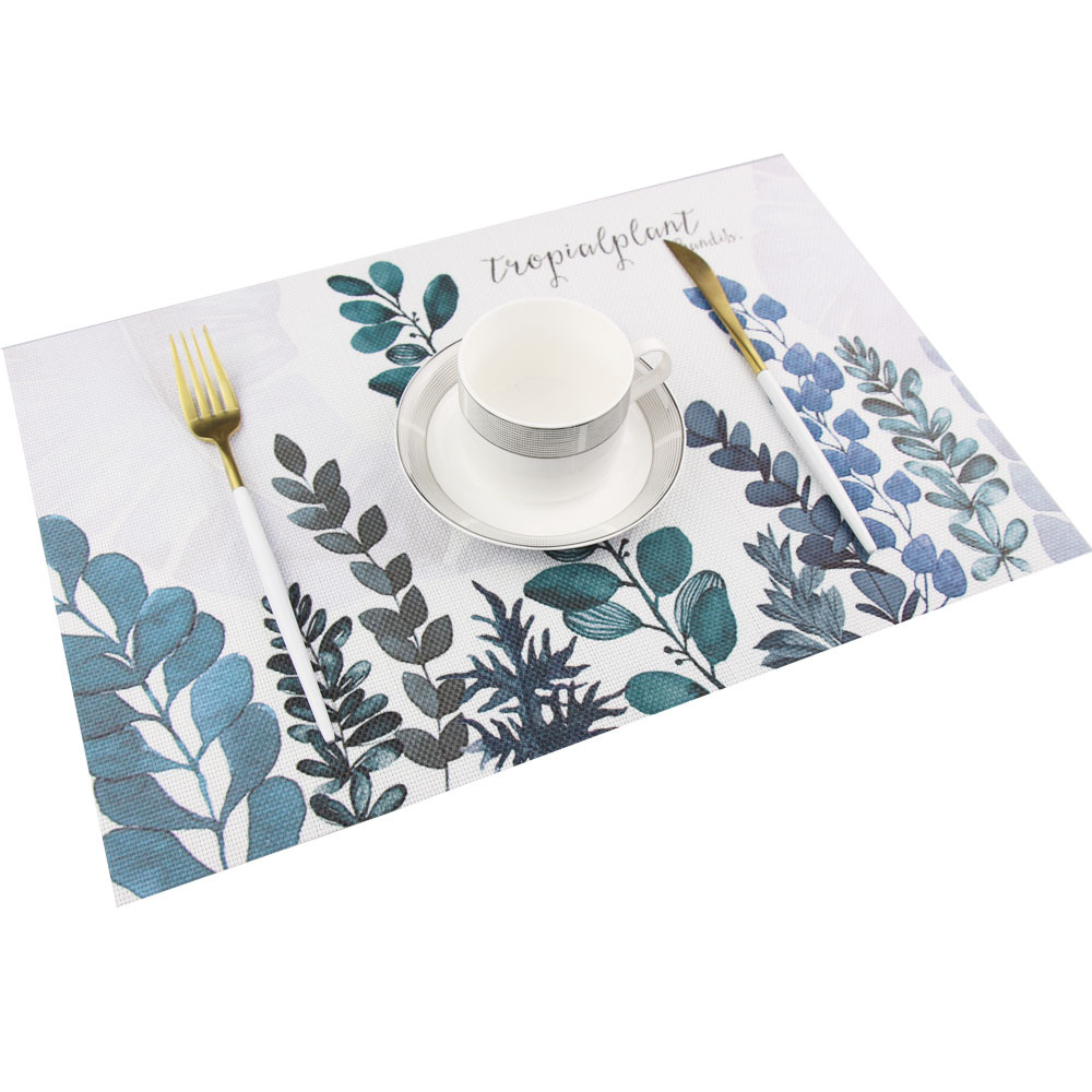 LIYIMENG 4Pcs/lot Dinner Placemat Nordic style Pvc Table Mat Pads Coasters Waterproof Chicken Pad Slip-Resistant Pad