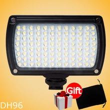 DHphoto 96 Luz de Vídeo LED de Iluminación Foto de la Cámara de Vídeo zapata led lámpara de luz para canon nikon videocámara dv dslr boda