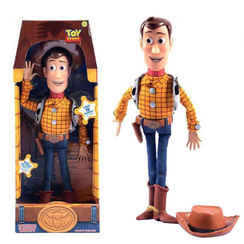 43cm Toy Story 3 Talking Woody Action Toy Figures Model Toys Children Christmas Gift Free Shipping With Box elsadou toy story 3 aliens action figures 22cm action