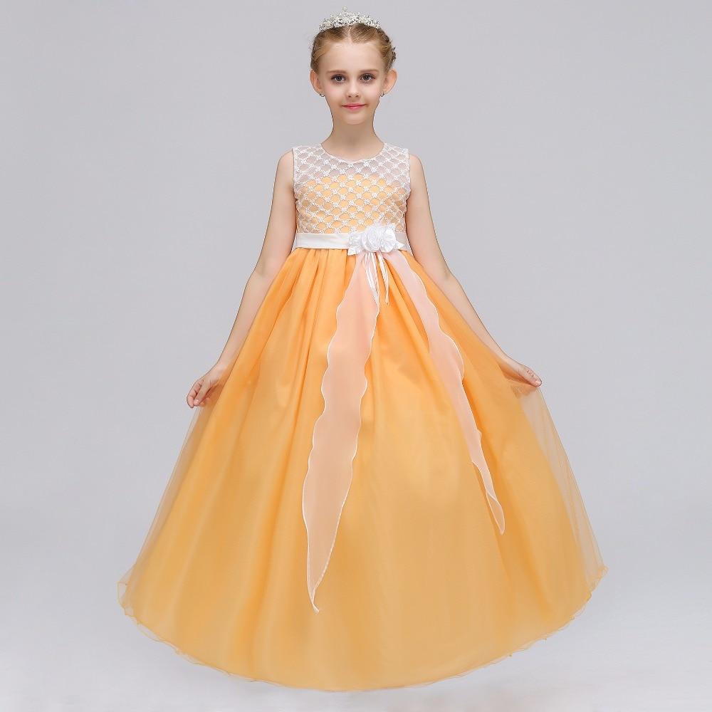 2019 New Sweet Flower Girl Dresses For Weddin Tulle Scoop Pearl Knee