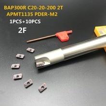 10PCS APMT1135 M2+1PCS 20mm milling cutter BAP300R C20-20-200-2T hard CNC carbide insert lathe cut
