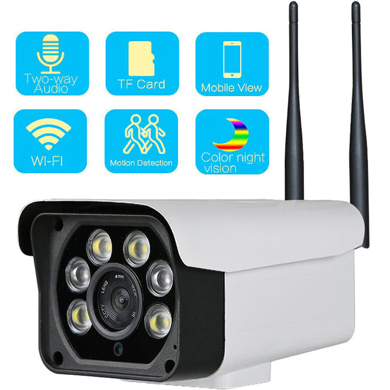 1080P IP Camera Bullet Outdoor Wifi Camera Security Surveillance Camera CCTV Camera Two Way Audio Color