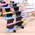 Transparent plastic 6 layers eyebrow pencil holder make-up display ballpoint pen stationery storage stand holder display rock