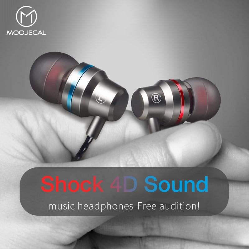 MOOJECAL dans l'oreille filaire 3.5mm écouteurs écouteurs musique casque pour Xiaomi Samsung Iphone Smartphone avec Microphone casque filaire