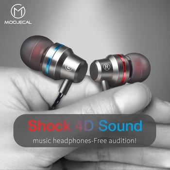 MOOJECAL dans l'oreille filaire 3.5mm écouteurs écouteurs musique casque pour Xiaomi Samsung Iphone Smartphone avec Microphone filaire casque