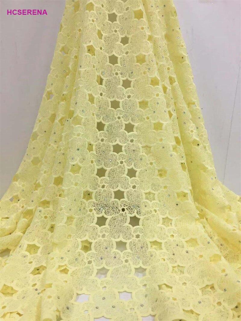 Dentelle de maille de tissu de dentelle Soluble chimique de tissu de dentelle de cordon africain de couleur blanche dans le matériel de Polyester pour la noce