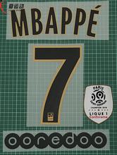 2018-19 MBAPPE #7 zestaw nazw z dala + łatka mistrza Ligue 1 + OOREDOO Paris away MBAPPE #7 zestaw nazw tanie tanio Przyjazne dla środowiska PRINTED Plastry Do przyprasowania MBAPPE 7