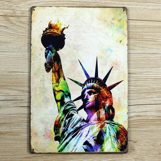 Statue of liberty  metal painting wall art crafts decoration Metal Tin signs plate Vintage & Statue of liberty