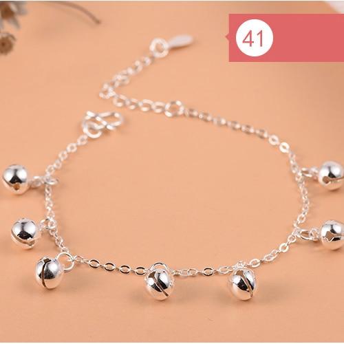 925 Sterling Silver Flower Star Charm Bracelet For Women Girls Luxury Brand Heart Cute Anklet Jewelry Pulseras Mujer 5