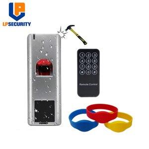 Image 2 - Waterproof IP66 Metal RFID Fingerprint access control system rfid 125khz reader home door lock gate opener access control