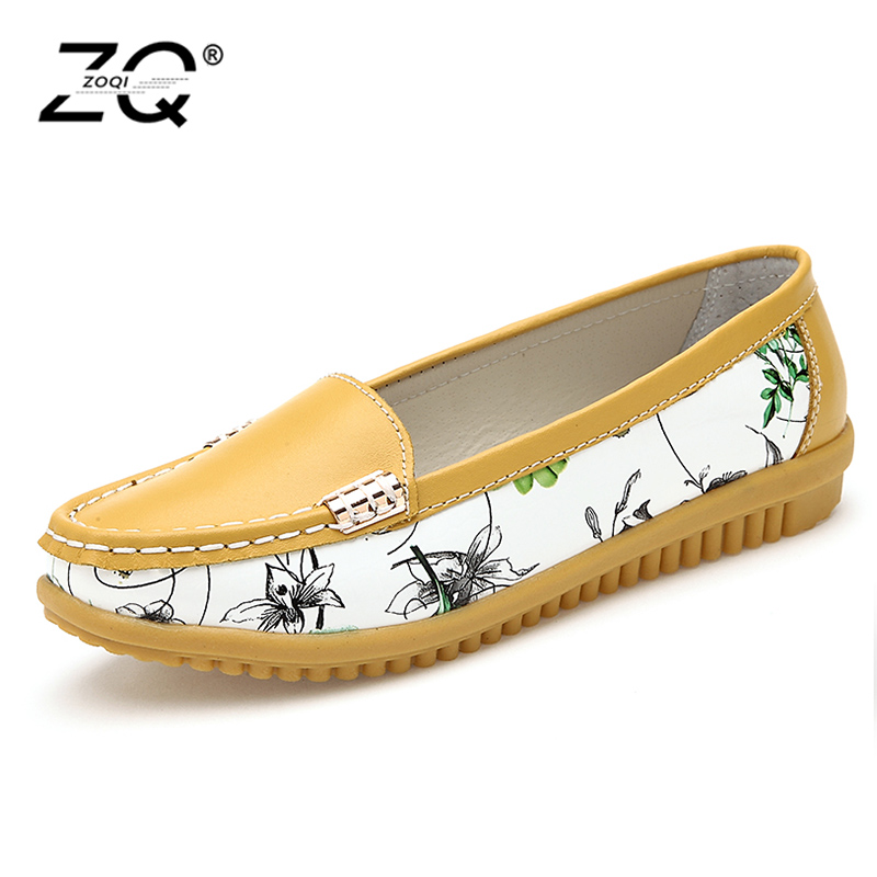 2018 Genuine Leather Women Flats Shoe Fashion Casual Slip On Soft Loafers Spring Autumn Moccasins Female Driving Shoes Wholesale uexia walking spring summer leather hand sewn men shoes casual footwear slip on designer luxury flats driving loafers moccasins