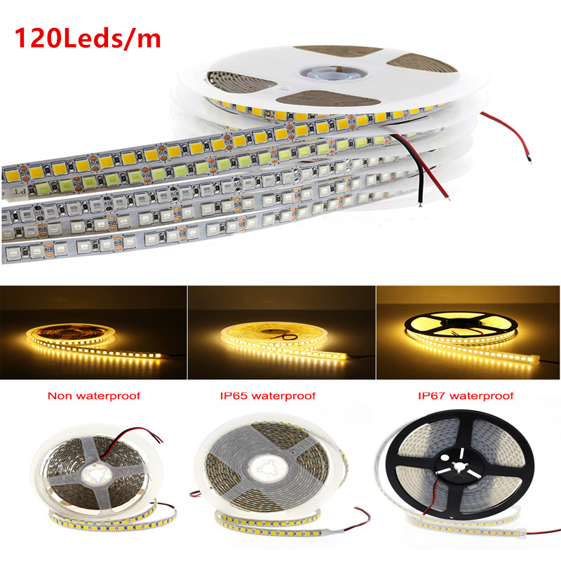 DC 12V 24V PC 5054 LED Strip light 5M 120Led/m Flexible Led Light Strip lights 12 24 V Volt Diode Ledstrip Waterproof White WarmDC 12V 24V PC 5054 LED Strip light 5M 120Led/m Flexible Led Light Strip lights 12 24 V Volt Diode Ledstrip Waterproof White Warm