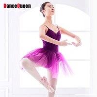 2018 New Professional Ballet Tutu Purple Ballet Leotards For Women Performance Dance Costumes Roupa Infantil Feminina JDQ10001